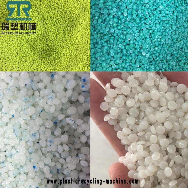 PE polyethylene (HDPE,LDPE, LLDPE) PP polypropylene flexible packaging material (BOPP, OPP), PET film, printed and non-printed one-step plastic recycling pelletizing machine