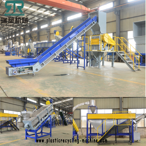 Post-consumer Waste Plastic LDPE LLDPE HDPE PP Film Bag Crushing Washing Squeezing Drying Machine Film Paper Tag Separation Production Line