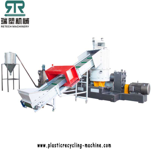 PP Woven bag shredding compactor recycling pelletizing line with double zone vacuum degassing system