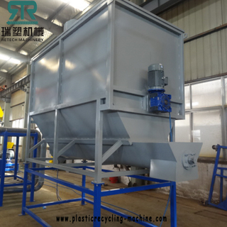 Storage hopper for plastic PP PE film washing line