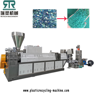 Plastic flakes granulating line for HDPE PP ABS Hollow Bottle Bucket Lumps