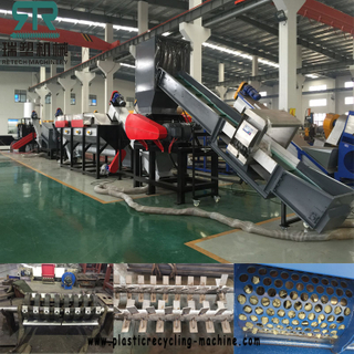 500KG/H LDPE agriculture film cleaning washing squeeizing production line