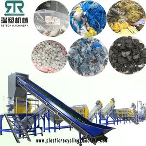 1000kg/h PE PP LDPE LLDPE film washing recycling pelletizing line