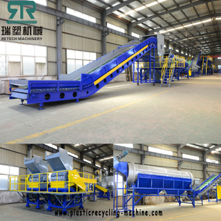 Bottle to Bottle Grade PET Bottle Flakes Crushing Washing Dring Recycling Production Line