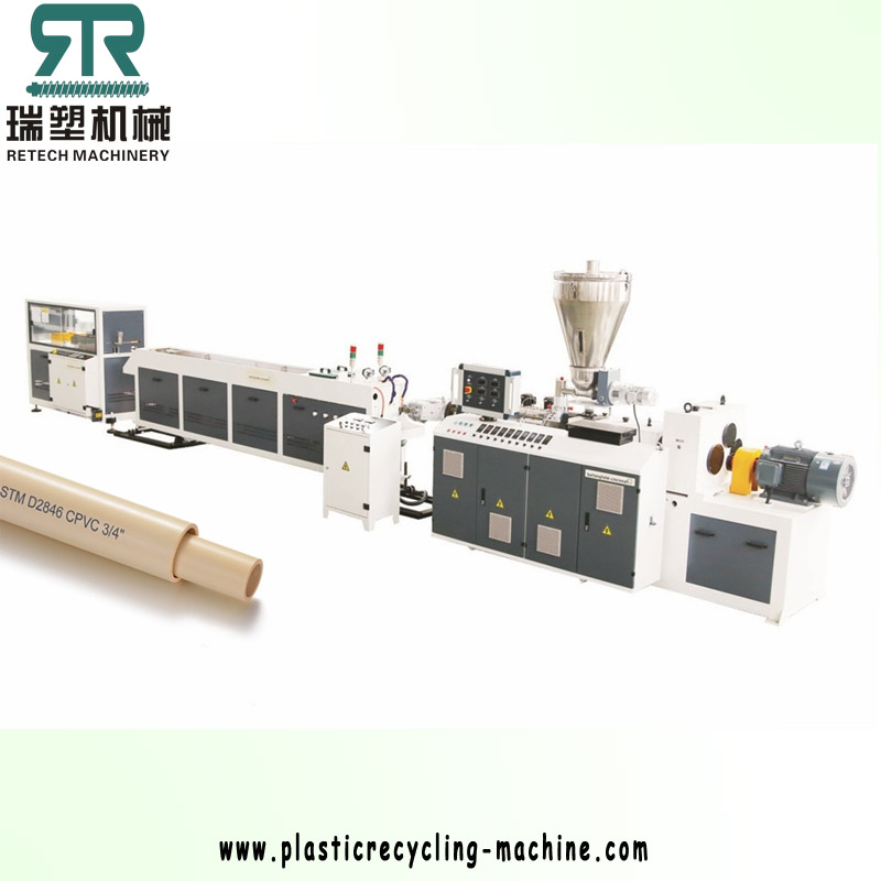 40 Four Cavity PVC Pipe Production Line For Water, Conduit Usage